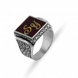 Lettered Handi handiing Men's Ring