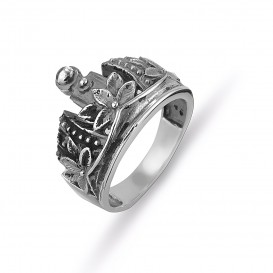 King's Crown Silver Ring