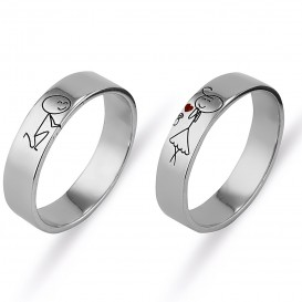 Ad-I Love Wedding Ring
