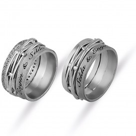 Named Silver Wedding Ring