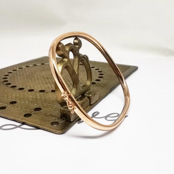 Mikron Altın Kaplama Gümüş Kelepçe