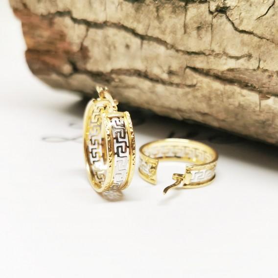 Altın Montürü Gümüş Bilezik Küpe Kombini