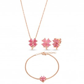 Pembe Quartz Yonca Set
