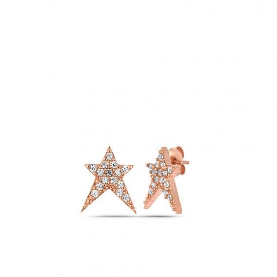 Zirkon Yıldız Küpe