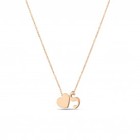 Minimal Letter Heart Necklace