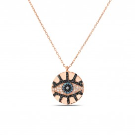 Evil Eye Beaded Plate Eye Necklace