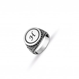 Lettered Men's Ring