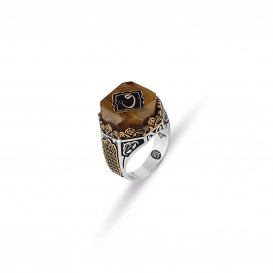 Tightening Amber Design Vav Ring