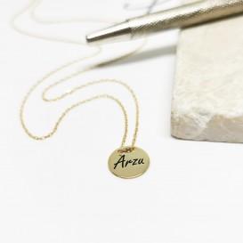 Mini Plaka Gümüş İsimli Kolye