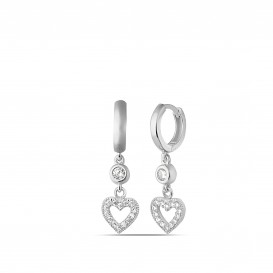 Heart Woeous Hoop Earrings