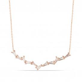 Baguette Stone Design Necklace