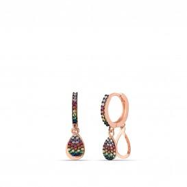 Colorful Drop Hoop Earrings