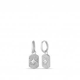Zircon Stone Polar Star Earrings
