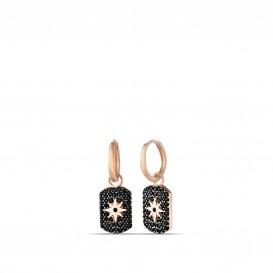 Onix Stone Polar Star Earrings