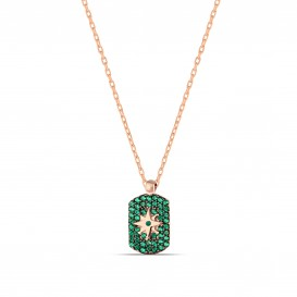 Zircon Stone Polar Star Necklace