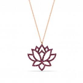 Lotus Çiçeği Kolyesi