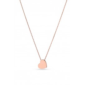 Minimal Heart Silver Necklace