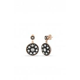 Diamond Model Silver Earrings