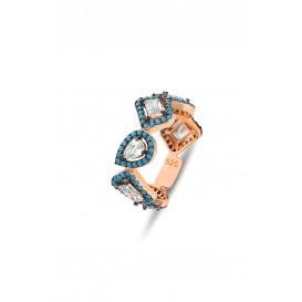 Firuze Stone Mix Silver Tamtur Ring