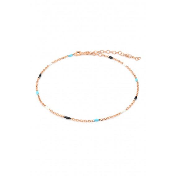 Renkli Mineli Gümüş Halhal