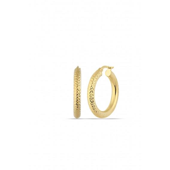 20 mmMikron Altın Kaplama Halka Küpe