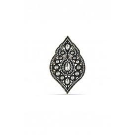 Elmas Modeli Gümüş Damla Broş