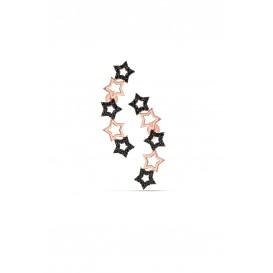 Gümüş Onix Taşlı Süzme Yıldız Küpe