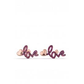Gümüş Love Küpe