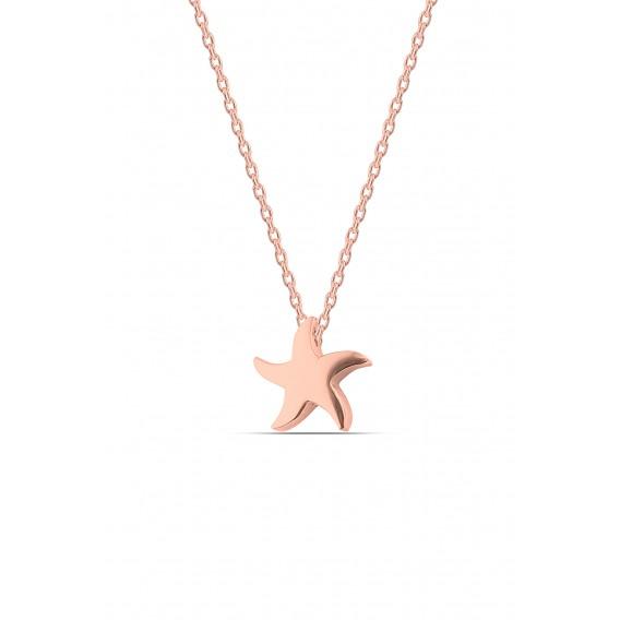 Gümüş Minimal Deniz YıldızıKolye