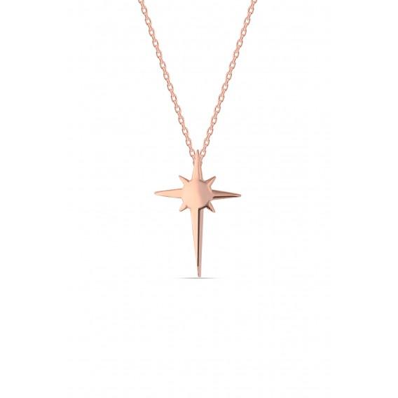 Gümüş Minimal Kutup Yıldızı Kolye