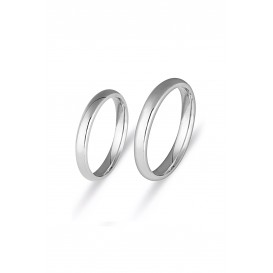 3 mm Classic Bombed Double Wedding Ring