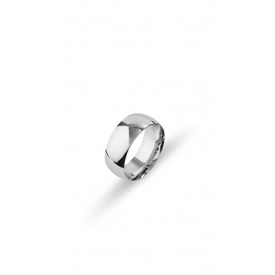8 mm Klasik Bombeli Gümüş Alyans