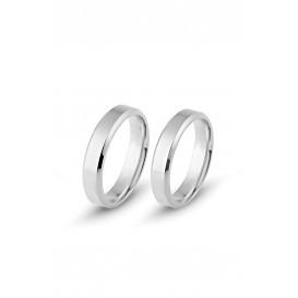 Gümüş 4 mm Çift Alyans