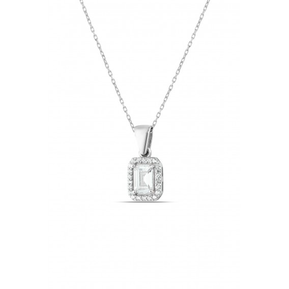 Sapphit Silver Necklace with Sapphiet Stone