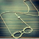 Nazar Beaded Infinity Necklace with Named Heart