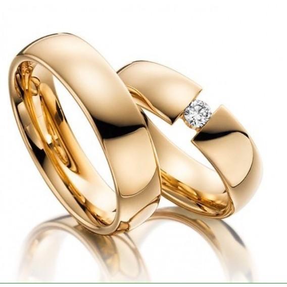 Rosegold Kaplama Gümüş Alyans