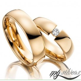 Rosegold Coated Silver Wedding Ring