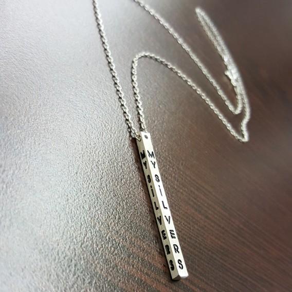 4 Boyut Gümüş Kolye