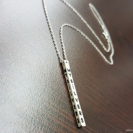 4 Size Silver Necklace