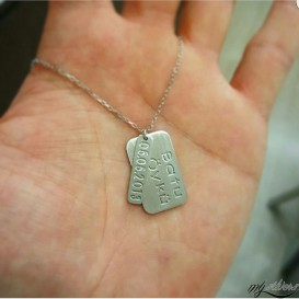 Dated Silver Necklace Named