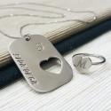 Özel Tasarım Gümüş Yüzük Kolye Kombini