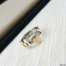 Harfli Gümüş Yüzük