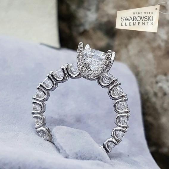 Orjinal Swarovski TaşlıEfsane Süzme Gümüş Yüzük