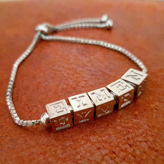 Harfli Küp Gümüş Bileklik