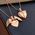 Heart Written Silver Necklace
