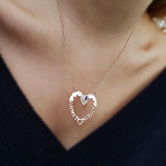 Kalp Atışı Gümüş Kolye