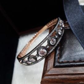 Elmas Modeli Gümüş Kelepçe