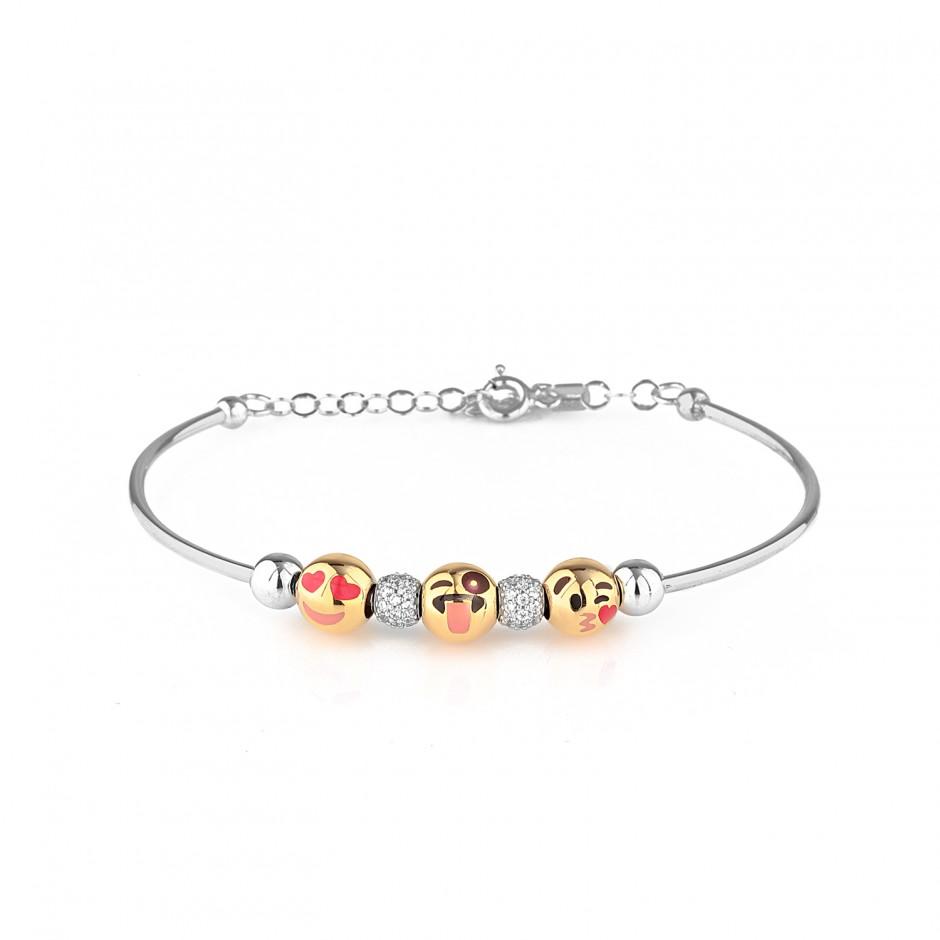 Emoji Silver Bracelet