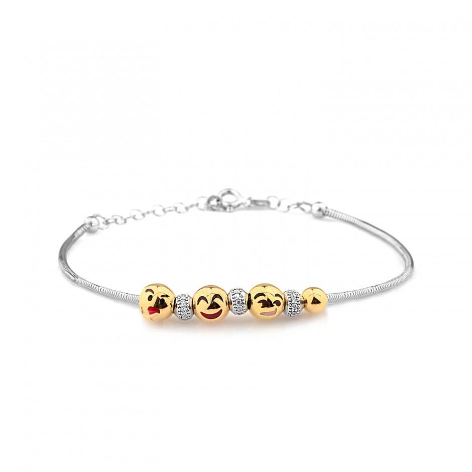 Silver Emoji Bracelet