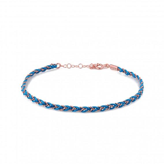 Mavi Örme Gümüş Halhal